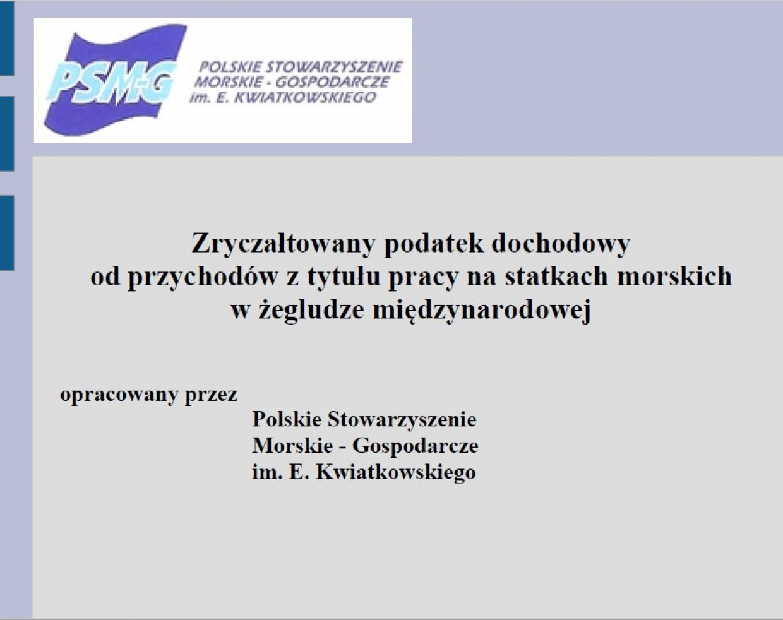 Prezentacja - projekt ustawy PSMG